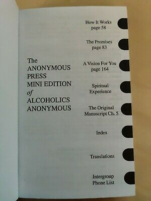 Alcoholics Anonymous Mini Edition : By the Anonymous Press
