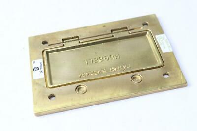 Hubbell S3826 Brass Rectangular Floor Box Cover