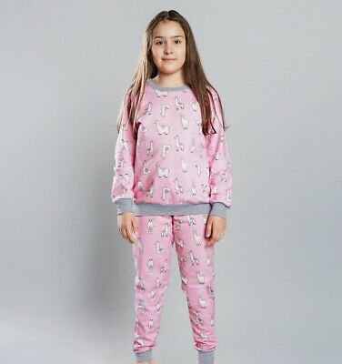 LAMA Pyjama Fillette en coton Rose Italian Fashion