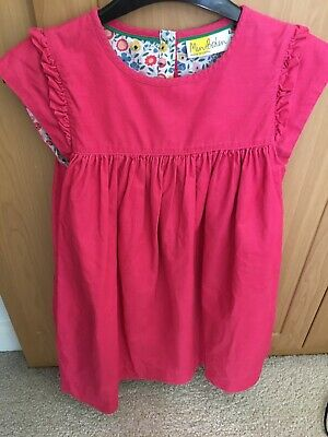 Mini Boden Girls Pink Cord Dress age 9-10 lovely condition