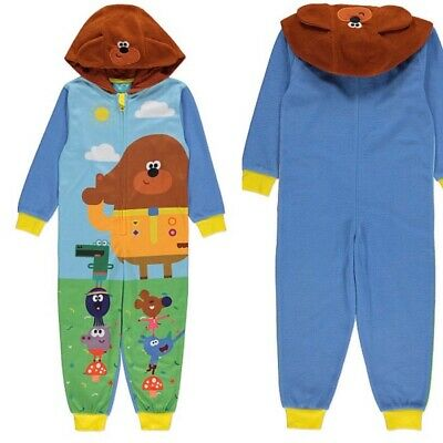 George HEY DUGGEE Boys Blue Warm Cosy Hooded All in One Robe - 3-4 Years - New!