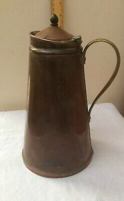 Original W.A.S. Benson Arts and Crafts Copper Brass Lidded Hot Water Jug