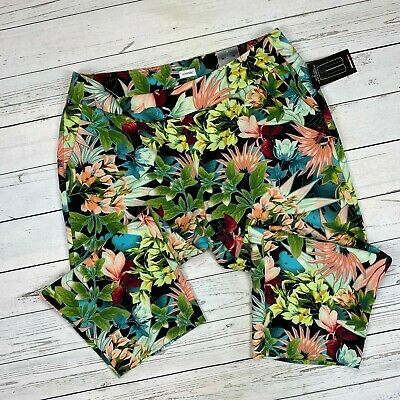 Avenue Pull On Pants Size 18 Womens Floral Style 4968 Stretch Crop Capri