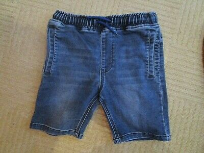 boys boy blue denim shorts age 10  years cuff waist exc condition next