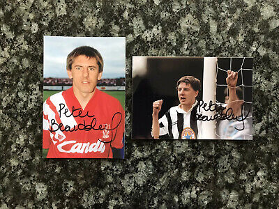 2 x Peter Beardsley Football Liverpool Autographed Signed 6x4 Photographs