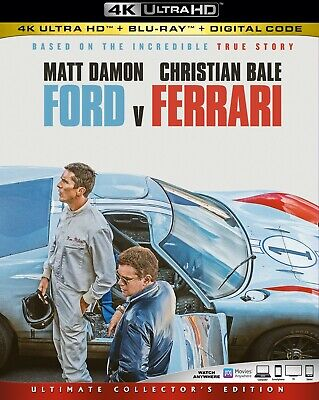 Ford v. Ferrari 4K Ultra HD (4K+Bluray) Watched once w/Slipcover