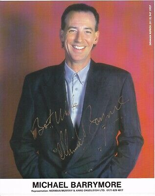 Comedian MICHAEL BARRYMORE Signed Colour Photo