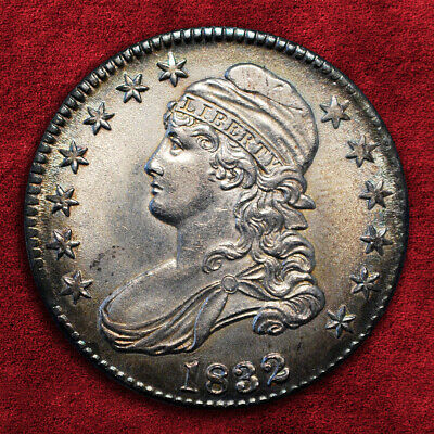 1832-P Capped Bust 50C, Small Letters O-117, Ngc *Unc*, Srs: R4+!!!