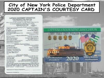 2x 2020 NYC Police CAPTAINS CEA CARD & FREE 2020 CARD -  NOT PBA SBA CEA DEA LBA