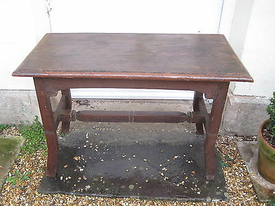 An Arts & Crafts Oak Hall Console Table A