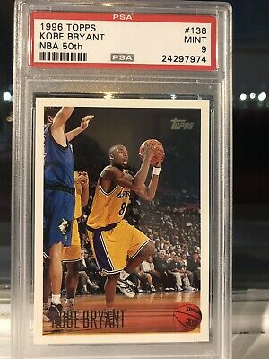 1996 Topps Kobe #138 Gem Mint Rookie Card With Grading Error