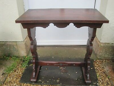 Arts and Crafts Oak Hall Console Table A