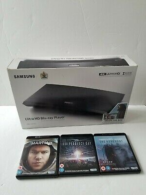 SAMSUNG UBD-K8500 Smart 4K Ultra HD Blu-ray & DVD (Wi-Fi) Player and 3 X Movies