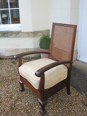 Good Quality Art Deco Bergere Backed Mahogany Armchair A