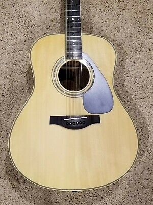 Yamaha LL6 Dreadnought Acoustic Guitar Natural with Case