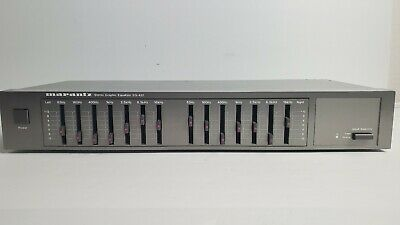 Marantz EQ-432 Stereo Graphic Equalizer Black/Gray TESTED/Working