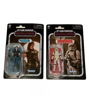 Star Wars The Mandalorian Cara Dune And Remnant Stormtrooper Kenner Vintage