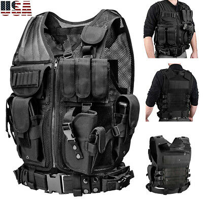 Military Tactical Vest Police Adjustable Army Molle Combat Airsoft Hunting Chest