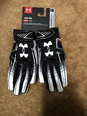 UNDER ARMOUR F6 YOUTH FOOTBALL GLOVES Size SMALL PAIR BOYS KIDS YSM