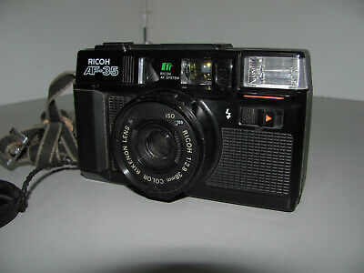 Ricoh AF-35 Point & Shoot 35mm Film Camera Tested & Working