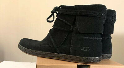Ugg Reid 1019129 Black, Woman's Boots/ Booties 100% Authentic New, Size 8.5