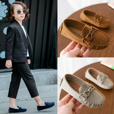 Children Boys Girls Loafers Solid Color Soft Bottom Breathable Casual Shoes AU