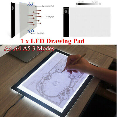 LED Drawing Board Light Box Tracing Pad Copy Tattoo Art Craft Stencil Device Kit