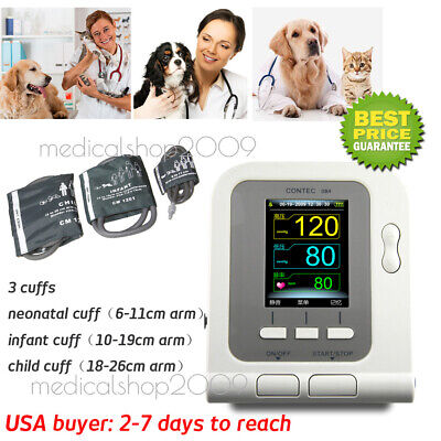 Digital Veterinary Blood Pressure Monitor CONTEC08A, VET BP/NIBP,3 Cuff