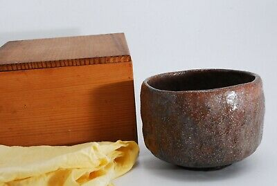 Japanese Old Pottery, TEA BOWL, Tea Ceremony, SADO, Chawan w/ Box /534