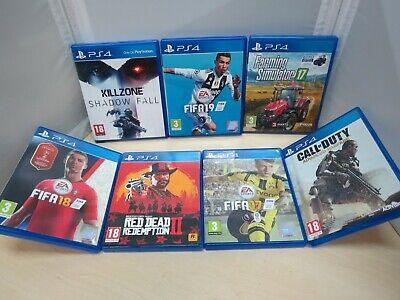 Bundle of 7 x Playstation PS4 Games, Fifa 19/Call of Duty/Killzone - 24B