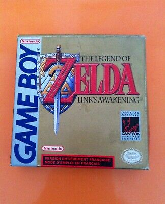 "Nintendo Game Boy jeu Zelda ""The legend Of Zelda Link's Awakening"" boite,notice."