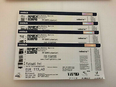 Foo Fighters Berlin 10.06.2020 Tickets Eintrittskarten Platzwahl Frei