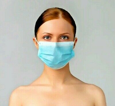 100 PCS Disposable Face Mask Surgical Medical Industrial Protective Respirator