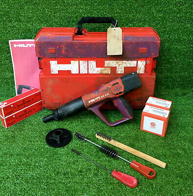 HILTI DX A41 F8 Nail Gun  Cartridge Hammer C/W 200 Nails & Cartridges  REF 8170B