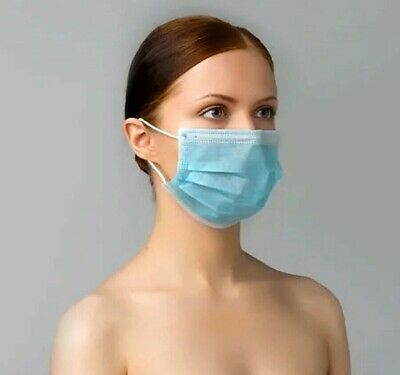 50 PCS Disposable Face Mask Surgical Medical Industrial Protective Respirator