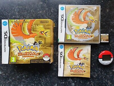 Pokemon Heartgold Version Nintendo DS Game Complete w/ Pokewalker Heart Gold