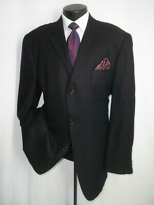 Arnold Brant Loro Piana Fabric Solid Black 3 Buttons Cashmere Jacket Coat 46 L