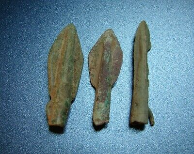 Ancient  arrowheads Big. 7 - 2 nd century BC bronze. RARE. ORIGINAL