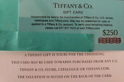 2 TIFFANY & Co Gift Cards $250 each Pin unscratched