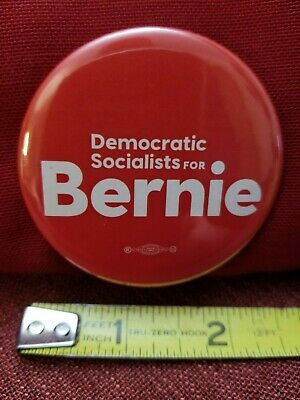 Official 2020 Democratic Socialists For Bernie Sanders Button Pin