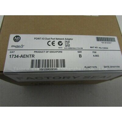 NEW FACTORY SEALED Allen Bradley 1734-AENTR Series B EtherNet/IP Adapter 11/16
