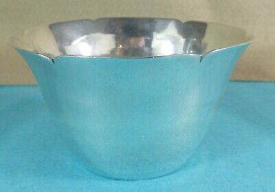 Rare Art Deco Sterling Silver Bowl Hand Hammered Finish H G Murphy London 1929
