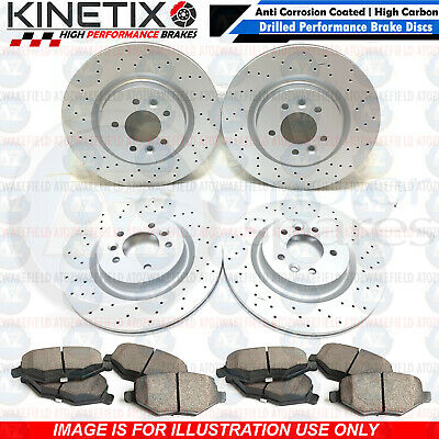 FOR BMW X5 X6 E70 E71 E72 FRONT REAR CROSS DRILLED BRAKE DISCS PADS 348mm 320mm