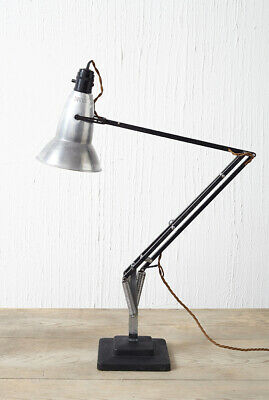 Vintage early Herbert Terry anglepoise lamp 1227 perforated shade