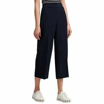DKNY NEW Women's Solid Wide-leg Capri Cropped Pants TEDO