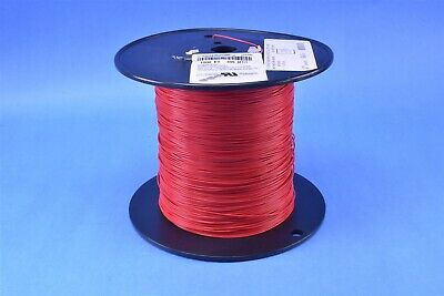 1000 Ft. Alpha 24AWG Silver Plated Copper PTFE Red Hook-Up Wire