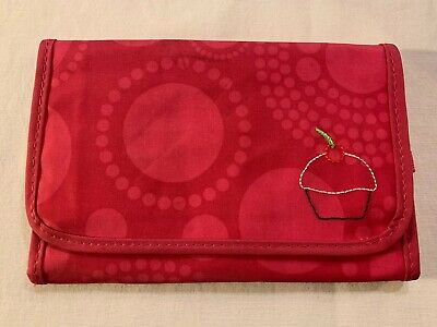 Thirty-One 31 Gifts Fold And Go Organizer Pink Circle Spiral w/Cupcake NWOT