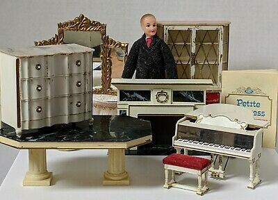Ideal petite princess dollhouse furniture LOT of 9 pieces