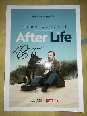 NEW - Ricky Gervais (AFTER LIFE) Hand Signed Photo - Genuine