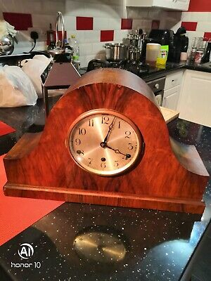 Antique very large Napoleon Hat Mantel Clock, Westminster Chime